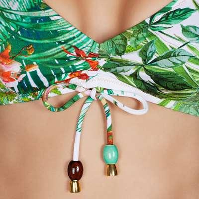 Andres Sarda Swimwear - bikini top halter Front5