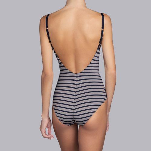 Andres Sarda Swimwear - WAKAYA - Badeanzug unterlegt Front3