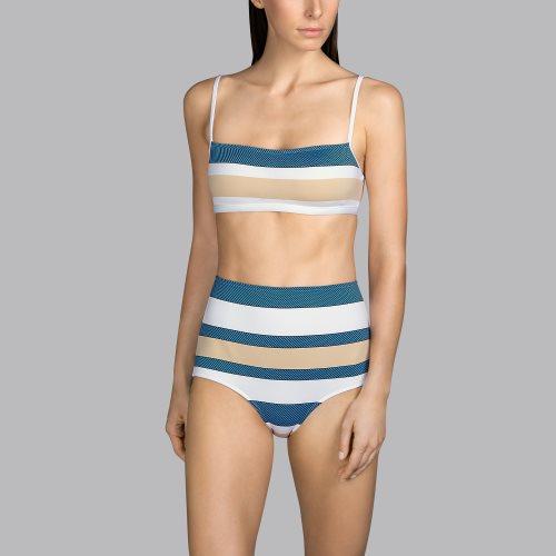 Andres Sarda Swimwear - POP - strapless bikini top Front2