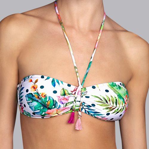 Andres Sarda Swimwear - SHELTER - strapless bikinitop Front