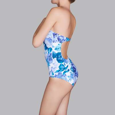 Andres Sarda Swimwear - strapless swimsuit Front3
