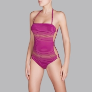 Andres Sarda Swimwear - strapless swimsuit Front