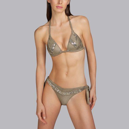 Andres Sarda Swimwear - MOON - triangle bikini top Front3