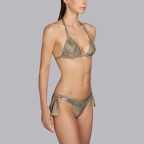 Andres Sarda Swimwear - MOON - triangle bikini top Front4