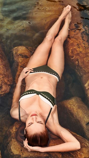 Swimwear GINA dark olive