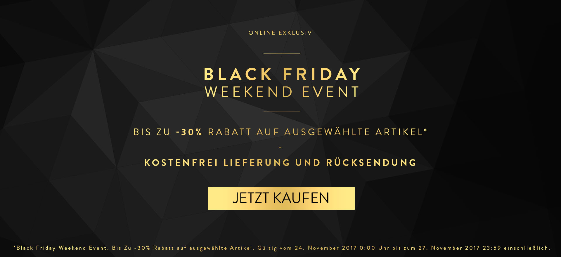 Black Friday Weekend Event