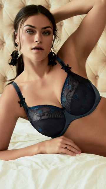 Dessous CHANDELIER mineral blue