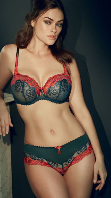 Lingerie DELIGHT empire green