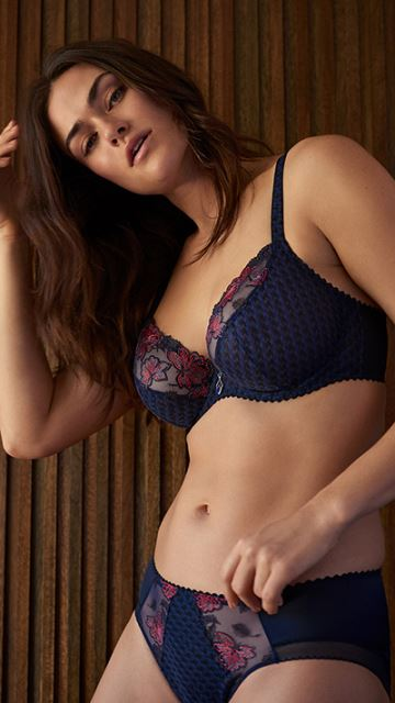 Lingerie WILD FLOWER midnight blue
