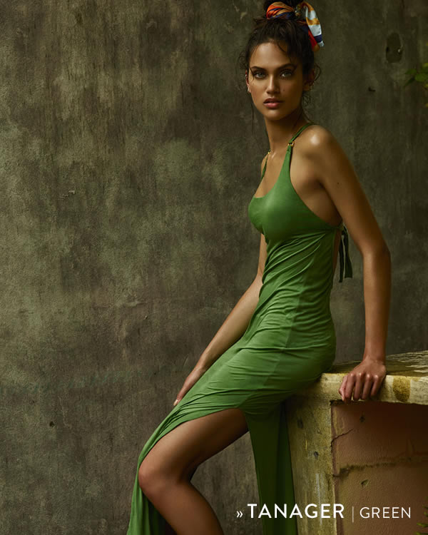Andres Sarda Swimwear | Tanager green