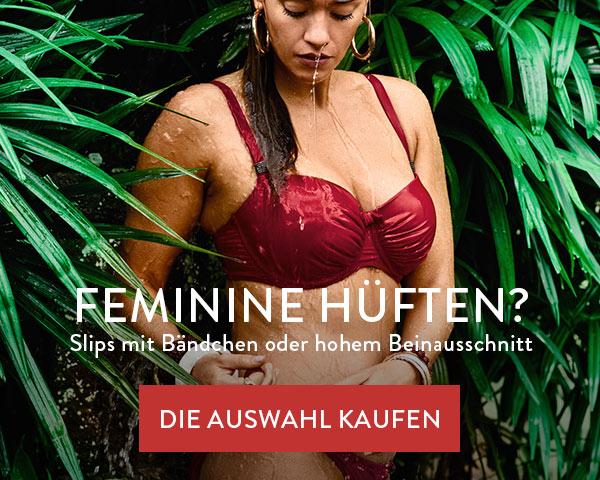 Feminine Hüften - Slips mit Bändchen oder hohem Beinausschnitt