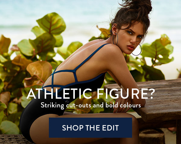 ATHLETIC FIGURE? Striking cut-outs and bold colours
