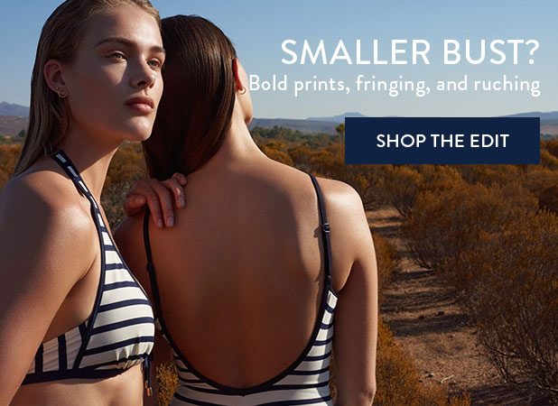 SMALLER BUST? Bold prints, fringing, and ruching