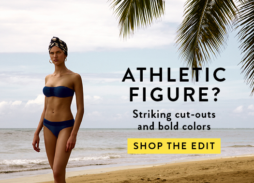 ATHLETIC FIGURE? Striking cut-outs and bold colors